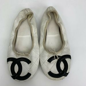 Chanel Quilted Cambon Ballet Flats